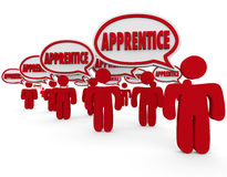 apprentice-word-speech-bubbles-trainee-workers-learning-skill-thought-to-illustrate-people-staff-training-new-skills-45967934